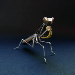 Watch Parts Praying Mantis No 47 by AMechanicalMind