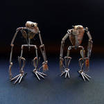 Articulated Watch Parts Creatures Septem and Hex by AMechanicalMind