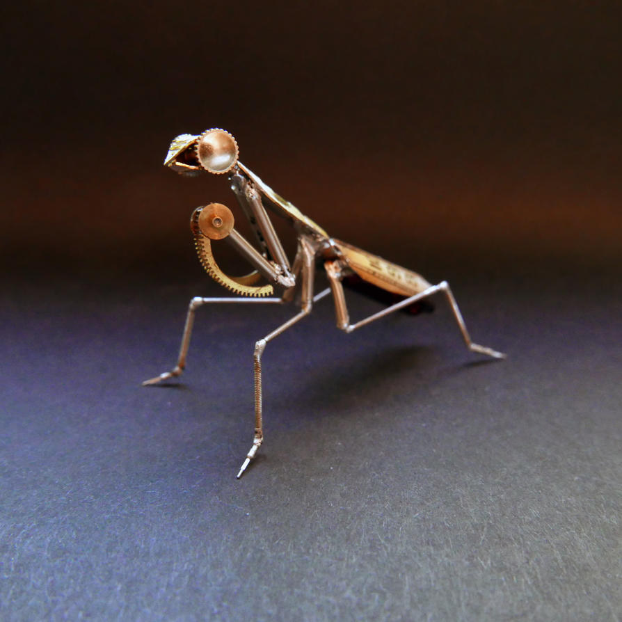 Watch Parts Praying Mantis No 49 by AMechanicalMind