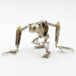 Articulated Watch Parts Creature 'Eight' by AMechanicalMind