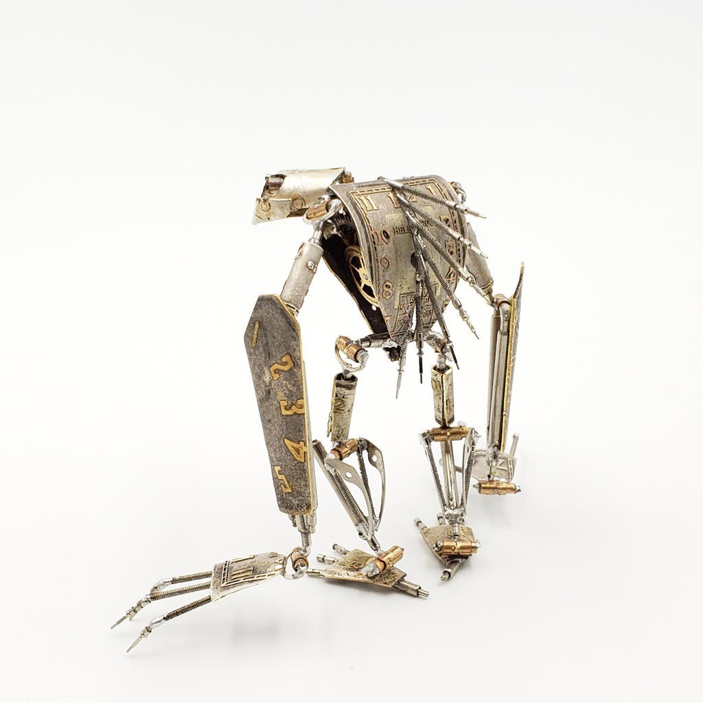 Articulated Watch Parts Creature 'Eight' II by AMechanicalMind