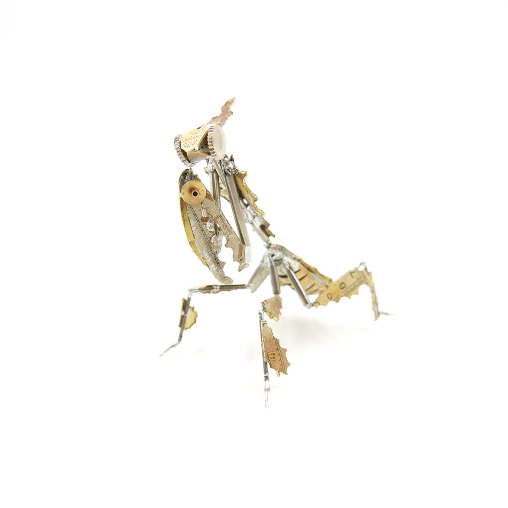 Watch Parts Praying Mantis 54 Ghost Mantis IV by AMechanicalMind