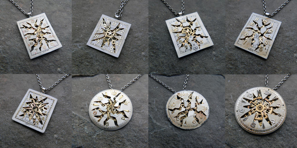 Deconstructed Watch Dial Necklaces by AMechanicalMind