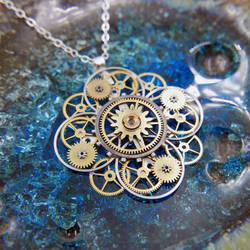 Watch Parts Flower Necklace 'Fremont'