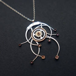 Watch Parts Necklace 'Eratosthenes'