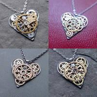 Watch Parts Heart Necklaces 2020