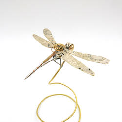 Dragonfly No 29 made from watch parts