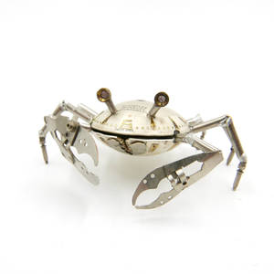 Crab No 1 made from recycled watch parts