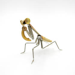 Praying Mantis No 58 made from watch parts