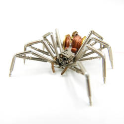 Spider No 116 watch parts, recycled wire