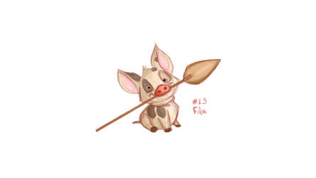#13 Daily Paint - Pua by Fefss