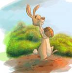 #44 Daily Paint - Rabbit