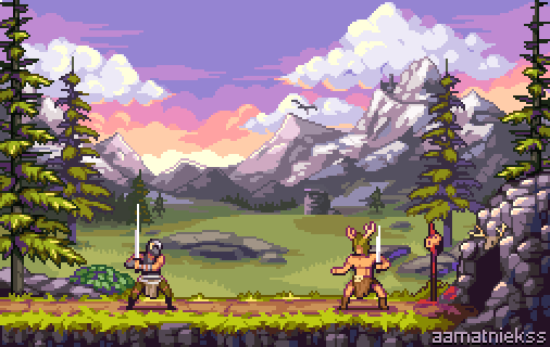 What if Skyrim was a 2d side-scroller game?