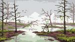 Marsh Landscape - Pixelart