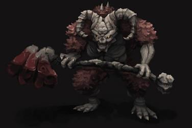 Taurus Demon - Dark Souls by aamatniekss