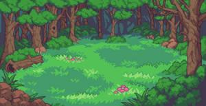 Forest Battle Background