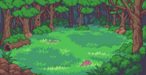 Forest Battle Background by aamatniekss