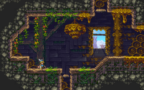 Tiny Thor bee infested tileset