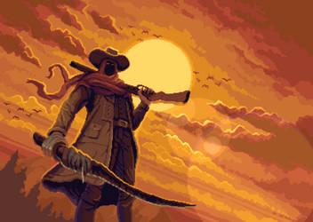 Dark western character
