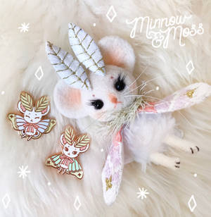 Mousemoth Doll and Pins