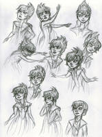 Evil (?) Elsa Sketches by ledeir15