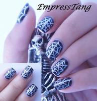 Silver Spider Web by EmpressTang