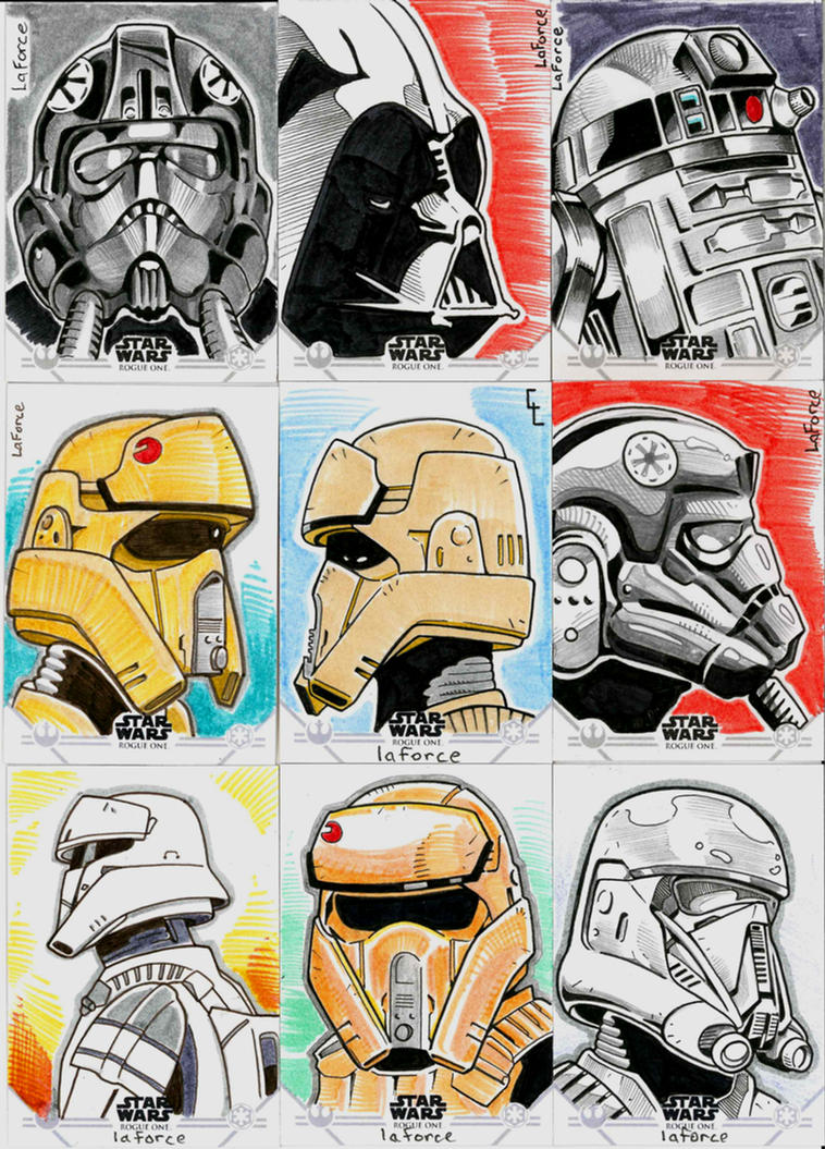 Rogue One series 1 -official sketch cards by goodmonsterguy