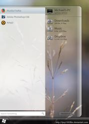 abandoned project - rainmeter based start menu