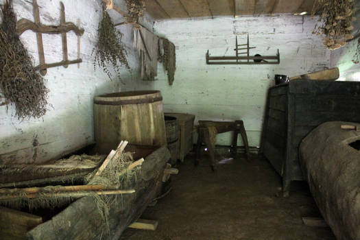 Old cottage house interior 01