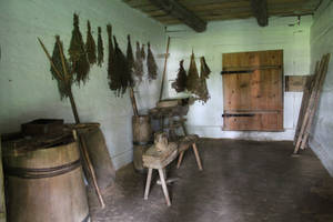 Old cottage house interior 02