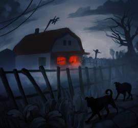 At night by littlebruke