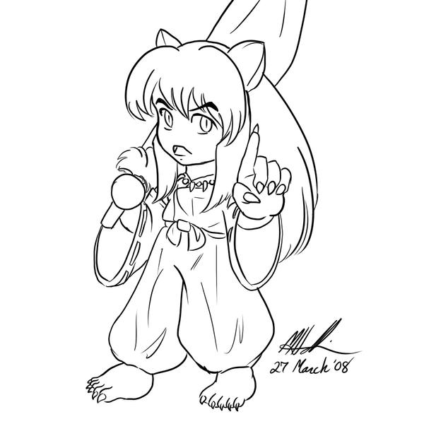Free Printable Inuyasha Coloring Pages For Kids | 600x600