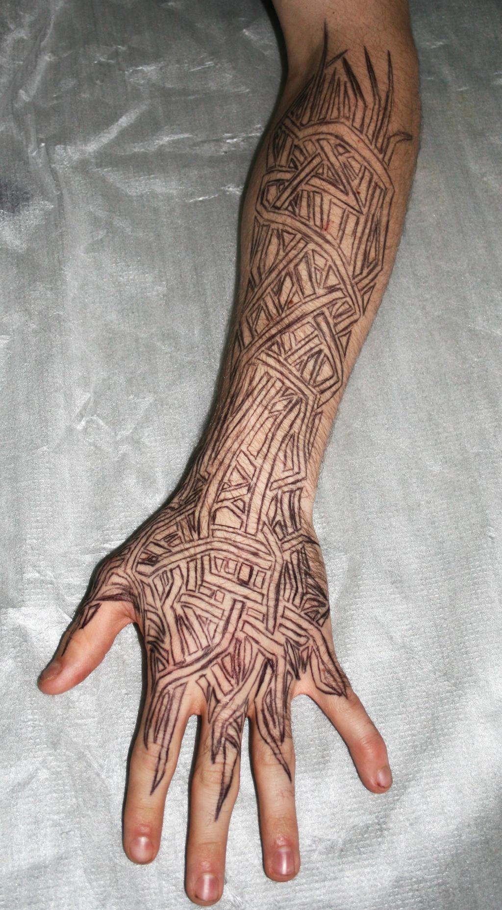Owl Tattoo Forearm Tribal