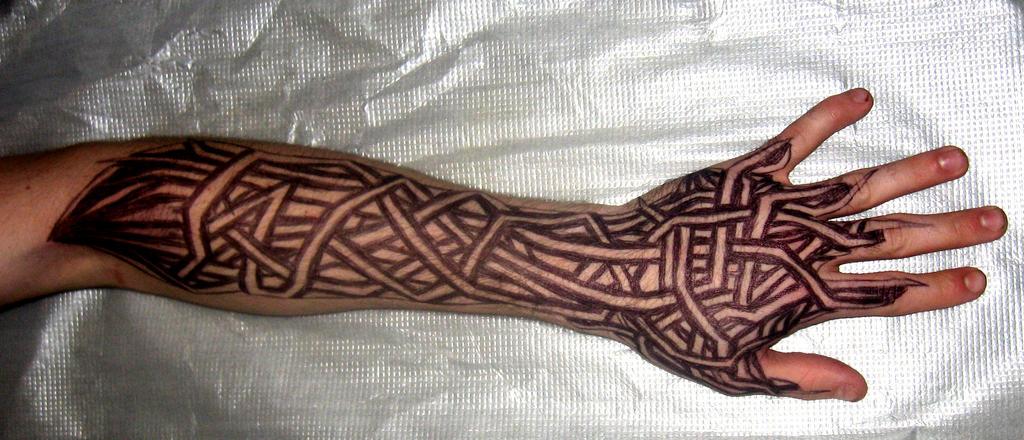 lower arm tribal v2 by blade m on deviantart. Black Bedroom Furniture Sets. Home Design Ideas