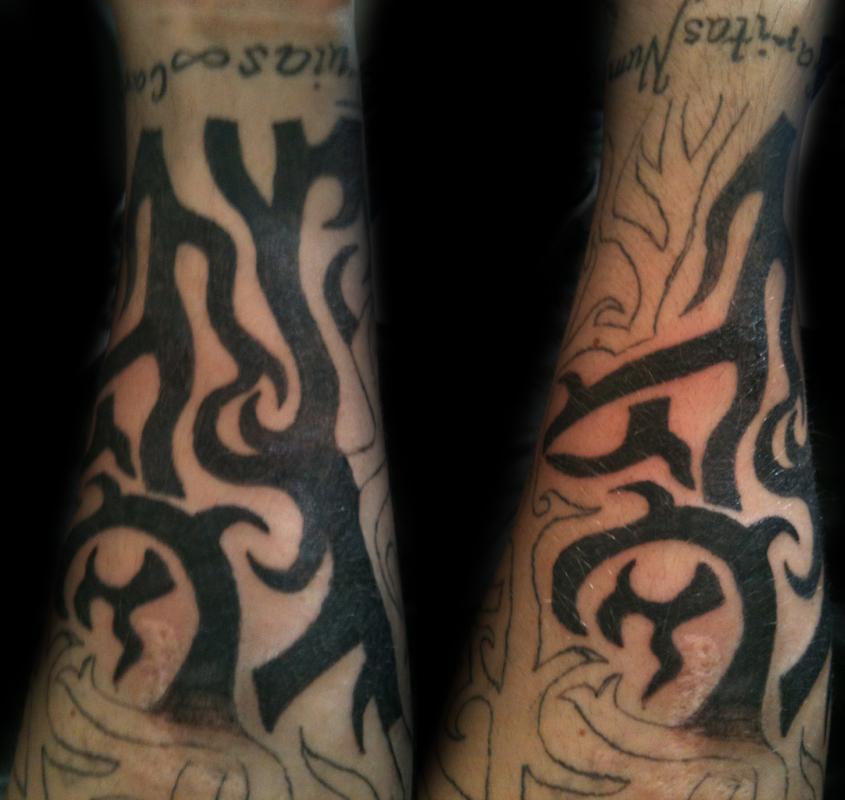 Tattoo colored sleeve tattoo Tribal sleeve session 2 sleeve tattoo