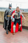 Batman and Thor cosplay