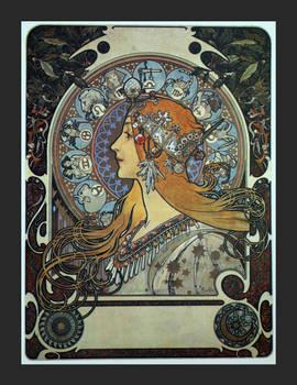Alphonse Mucha postcard prints 16