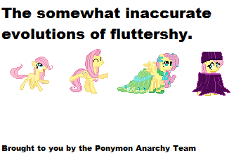 Fluttershy Evolutions by Discord-Drocsid