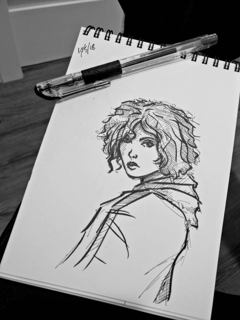 Inktober Sketch  by PaulBarrueto