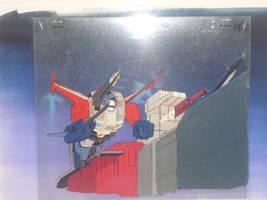 Powermaster Optimus Prime Original Animation Cel by Nitrofires-Revenge