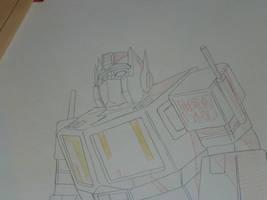 Transformers Original G1 Prime Production Drawing by Nitrofires-Revenge