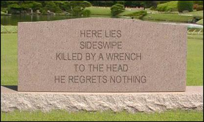 Sideswipe Tombstone