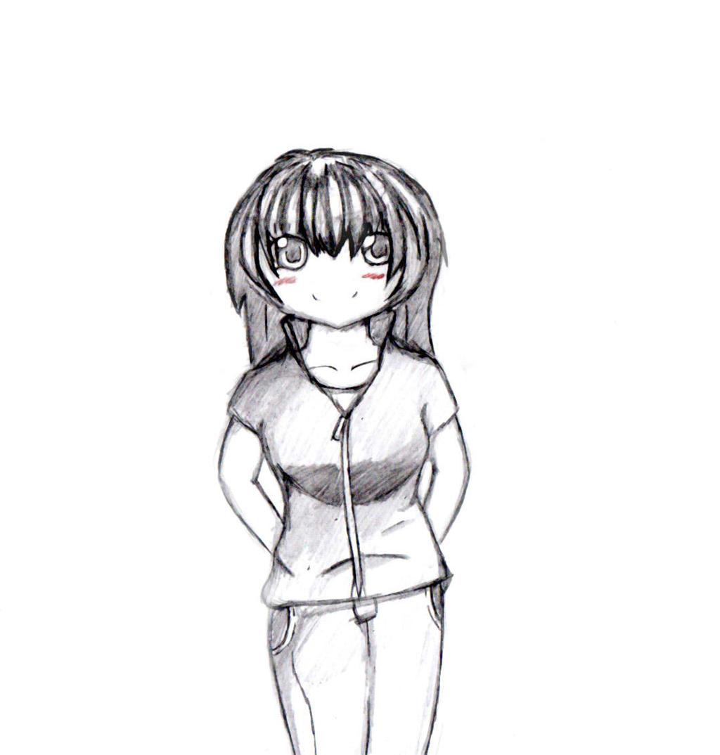 A Girl Standing Sketch By FEARprototype On DeviantART