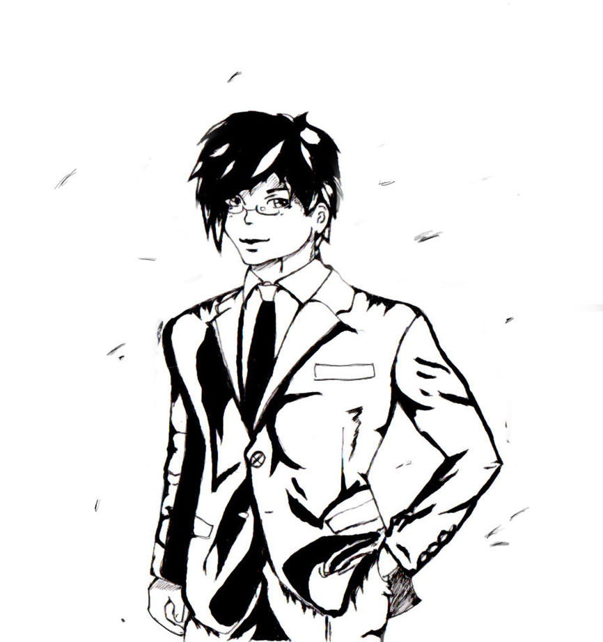 business suit drawing