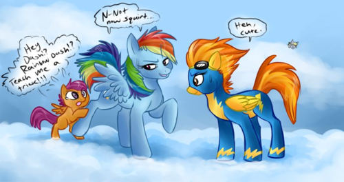 Rainbow Dash And Scootaloo By Rainbowdashscootaloo On Deviantart But after rainbow said yes they talked with apple jack and worked out an exception. rainbow dash and scootaloo by