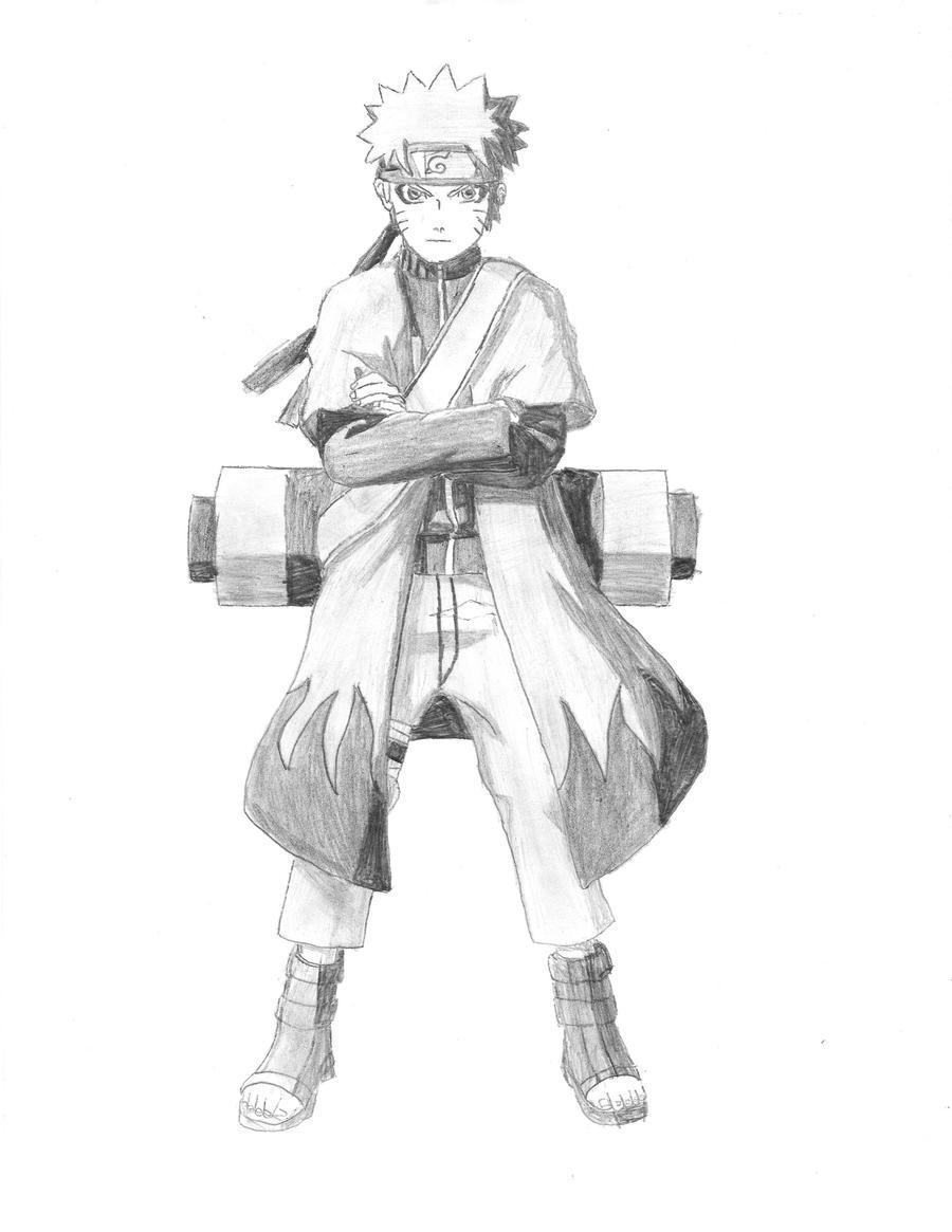 naruto sage mode by sc... Naruto Uzumaki Sage Mode Drawing