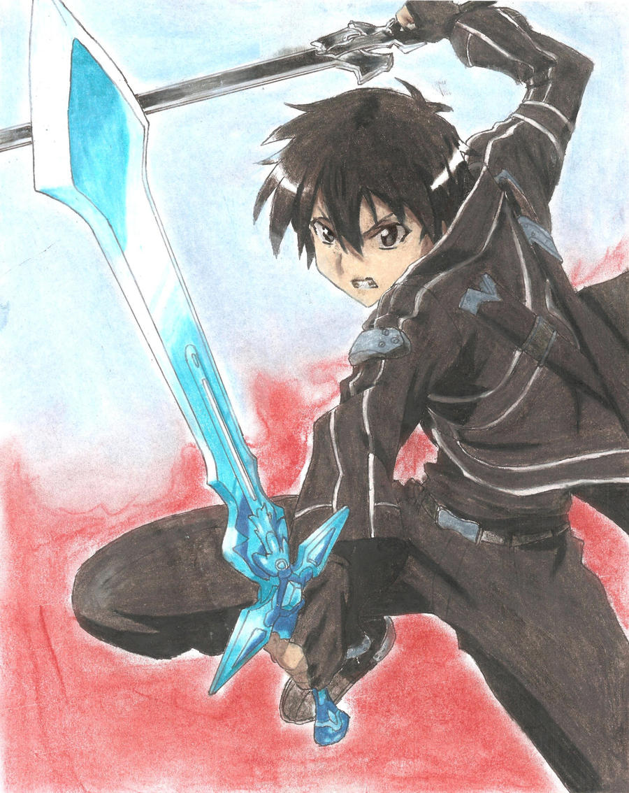 sword art online - Kirito Dual Blades by screwston12
