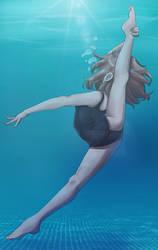 Underwater oversplits photo - Charlotte