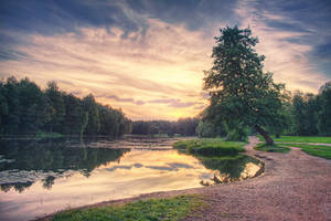 Pond at Sunset by myph