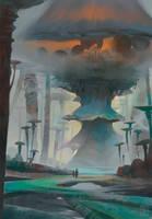 Mushroom forest by KuteynikovRoman